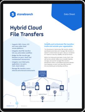 Datasheet Hybrid Cloud File Transfer Screenshot Download