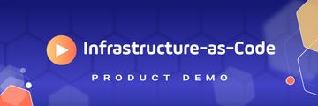 Detailed Product Demo Infrastructure as Code Header purple background