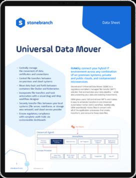 Datasheet Universal Data Mover Download Screenshot