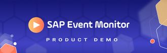 Detailed Product Demo SAP Event Monitor Header purple background