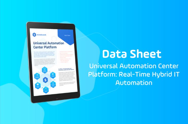Universal Automation Center (UAC) Platform Download Data Sheet Slider Image