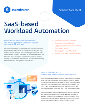 SaaS-based Workload Automation Solution Data Sheet