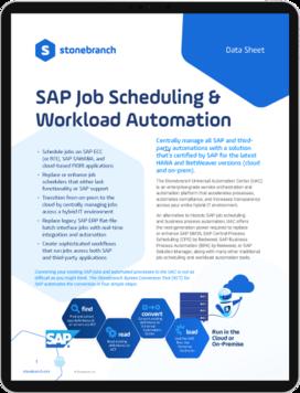 Datasheet Screenshot SAP Automation and SAP Scheduling Download