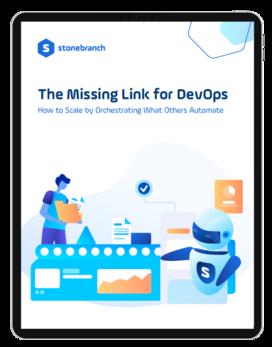 The Missing Link for DevOPs Whitepaper Ipad vector