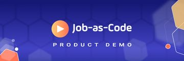 Detailed Product Demo Job-as-Code Header purple background