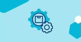 job scheduling software gear blue background