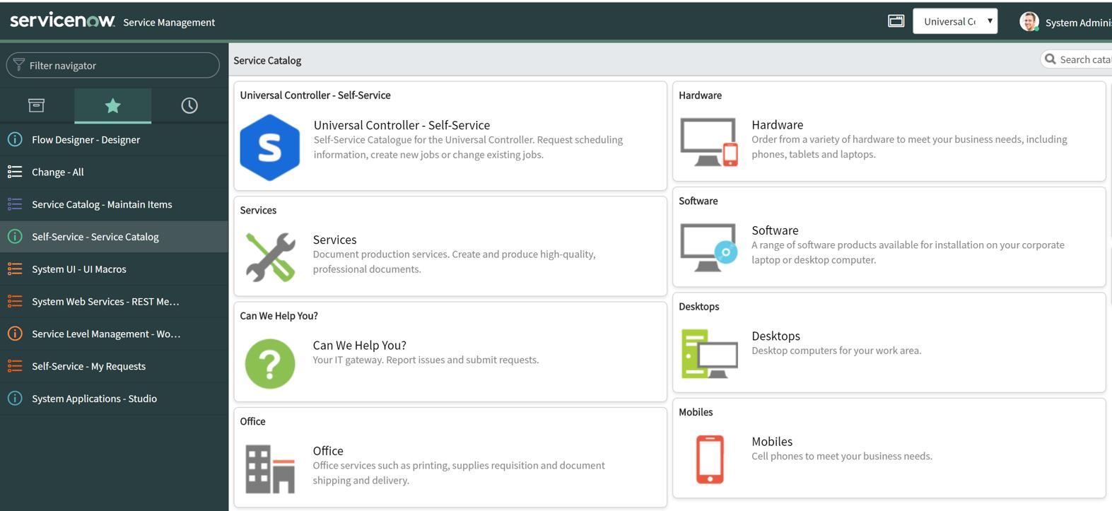ServiceNow GUI Stonebranch Integration