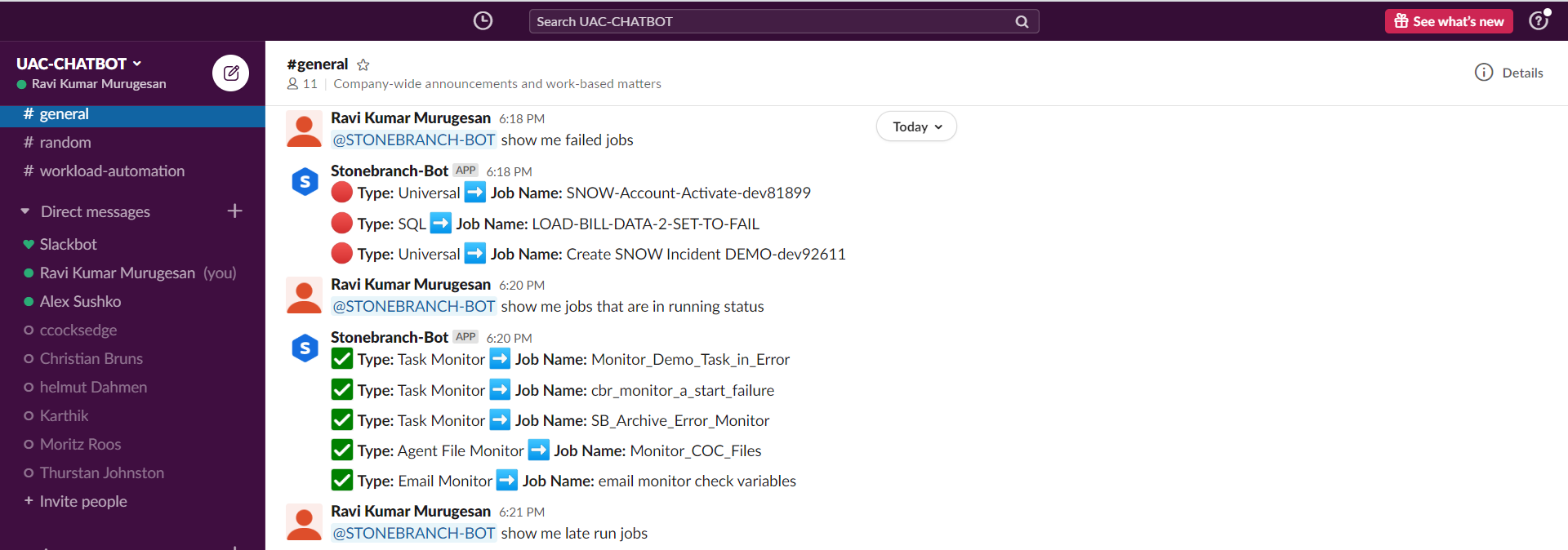 Self-Service IT Automation with Slack and Stonebranch